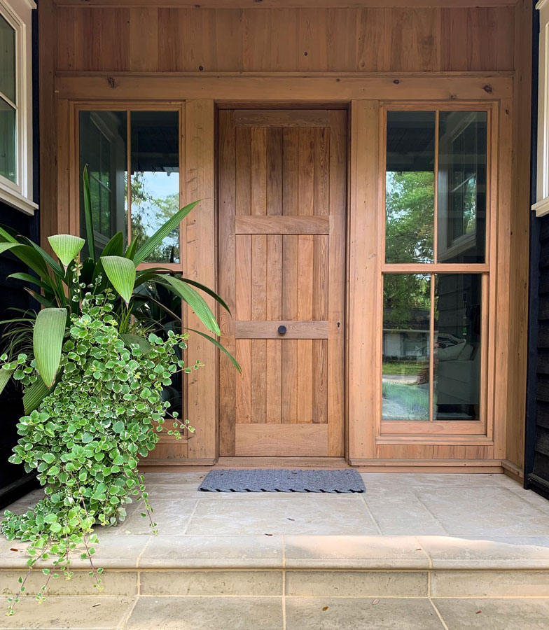 sustainable wood entry way
